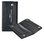efeel Blue Colour Soft Pu Leather Fully Lined Tobacco Pouch With Pocket with secure stud