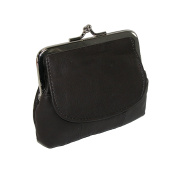 CTM Leather Double Compartment Coin Purse
