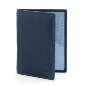 The Hoxton Leather Oyster Card / Travel Pass Holder by Gryphen - Navy