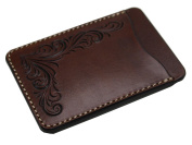 KC,s Leather Craft GENUINE COWHIDE PASS CASE NO.1 FREECUT Handmade In Japan