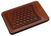 KC,s Leather Craft GENUINE COWHIDE PASS CASE NO.1 BASKET Handmade In Japan