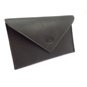 Leather door car papers 'Frandi' grey charcoal grey (slim).
