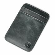 mSure Genuine Leather Credit Card Holder Wallet - RFID Blocking, 5 Pockets, Slim Design