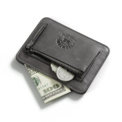 RFID Blocking Men's Slim Leather Wallet Front Pocket Women Credit Card Holder Coin Pouch