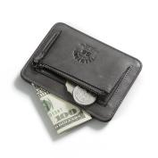 RFID Blocking Men's Slim Leather Wallet Front Pocket Women Credit Card Holder Coin Pouch