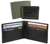 Mens Quality Small Compact 12 Credit Card Leather Wallet Holder Case