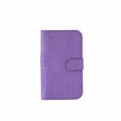Credit Card Holder Bi-fold Wallet Croco Pattern Leather