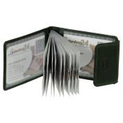 Card Case Credit Card Holder Business Card Case Genuine Leather Wallet in Landscape Format