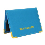 LEATHER OYSTER TRAVEL CARD BUS PASS HOLDER WALLET RAIL CARD COVER CASE NEW Fusion (TM)