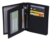 Avanco Men's Leather ID Card Holder 12 x 9 cm