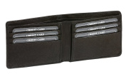 "ID & credit card holder with credit card slots and bill compartment LEAS, genuine leather, black - ""LEAS Card-Collection"""