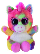 Heinrich Bauer Pia Blickfänger Lashy 14229 Glitter Unicorn Plush Toy, 15 cm, Multi-Coloured