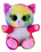 Heinrich Bauer 14239 - Eye-catching Glitter Lashy Cat Plush Toy, 15 cm, Multi-Coloured