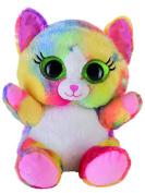 Heinrich Bauer Pia Blickfänger Lashy 14244 Glitter Cat Plush Toy, 20 cm, Multi-Coloured