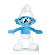 The Smurfs Brainy Smurf with Glasses 30cm Soft Toy Doll Blue Skin Plushie