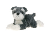 30cm Grey & White Schnauzer Dog - Animal Soft Toys - Collectible Soft Toys