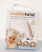 Cuddledry Children's Hair twist Towel with Gingham edge