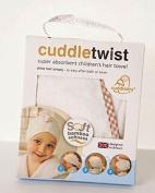 Cuddledry Children's Hair twist Towel with Gingham edge