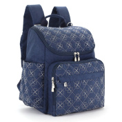 YuHan Oxford Baby Nappy Bag Nappy Backpack Nappy Pad Change Pad Insulation Bag Fit Stroller