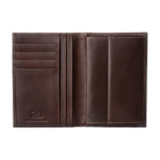 Antica Toscana Mens wallet with Coin Pocket Vertical format in Real Italian Leather Card & Money Holders Chestnut