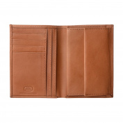 Antica Toscana Mens wallet with Coin Pocket Vertical format in Real Italian Leather Card & Money Holders Honey