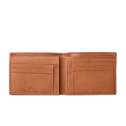 Antica Toscana Credit Card Wallet for Men in Genuine Leather with 9 Card Slots & 2 Note Pockets Honey