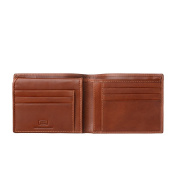 Antica Toscana Credit Card Wallet for Men in Genuine Leather with 9 Card Slots & 2 Note Pockets Terracotta