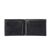 Antica Toscana Slim Bifold Wallet for Men in Real Italian Leather with 6 Card Slots and Banknote facility Black