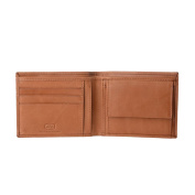 Antica Toscana Mens Wallet in Genuine Italian Leather with Coin Holder Purse / Card & Banknote Pockets Honey