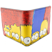 20th Century The Simpsons Family Heads Red ID & Card Bi-Fold Wallet