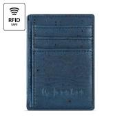 Best RFID Blocking Vegan Wallet for Men, Non-Leather Cork Wallet for Men's, Blue