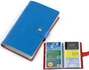 iSuperb® Business Card Holder Booklet Wallet Pouch Purse Organiser Folder Leather for ID Credit Card 18x11x2cm