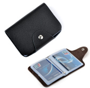iSuperb® Business Card Holder Booklet Wallet Pouch Purse Organiser Folder Leather for ID Credit Card 10*7.5cm