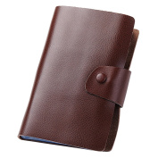 Esdrem Genuine Leather Business Card Credit Card Holder Organiser Name Card Book - Holds 240 Cards Brown