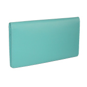 CTM Women's Leather Basic Chequebook Cover in Fashion colours