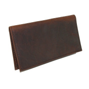 Boston Leather Textured Bison Leather Chequebook Cover