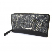 "Zipped compartment / leather pouch 'Gianni Conti'black (python pattern)- 19x10.5x2.5 cm (7.48""x4.13""x0.98"")."