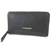 "Wallet + chequebook holder zipped leather 'Gianni Conti'black - 19x12x2.5 cm (7.48""x4.72""x0.98"")."