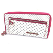 Wallet + chequebook holder zipped 'Agatha Ruiz De La Prada'fuchsia white - little hearts (2 compartments).