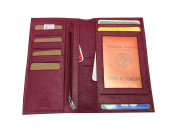 Vanity Case - All in One, Chequebook Holder, Business Card Holder, Wallet, Cow Leather Soft Matte Fuchsia Very