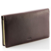 Vanity - porte-chéquier FA212 Cowhide Leather Wallet - BROWN LEATHER/Stylus Pen