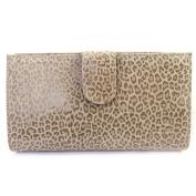 Leather wallet + chequebook holder 'Frandi' mole (leopard).