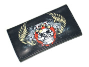 High Quality Faux Leather Tobacco Pouch - Skull With Goggles