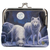 Lisa Parker Coin Purse - Warriors Of Winter - Wolf Purse