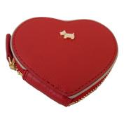 Radley 'Blair' medium heart coin purse leather red