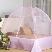 Folding Mosquito Net Suitable for Adults Children and Babies Protect Against Zika Malaria and Many Other Viruses Bed Tent Canopy Easy to Setup No more bites by Wuiyepo