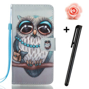 Samsung Galaxy J7 Prime case,Samsung Galaxy J7 2017 wallet case,Flip Leather case for Galaxy J7 Prime,TOYYM 3D Cute Owl Patterned PU Leather Wallet Case Cover Pouch [Magnetic Closure] with Card Slots for Samsung Galaxy J7 2017,Kickstand,Credit Card Hol ..