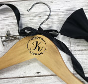 Personalised Wooden Hanger for Wedding Suit Monogram for The Groom