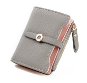 Nawoshow Women Cute Small Wallet PU Leather Girls Change Clasp Purse Card Holders Coin Purse