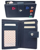 Ladies Quality Soft Leather Compact Purse With Beautiful Heart Detailing